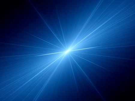 光の青の光る速度、コンピューター生成された抽象的な背景 写真素材