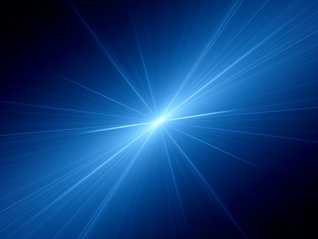 Blue glowing speed of light, computer generated abstract background Standard-Bild