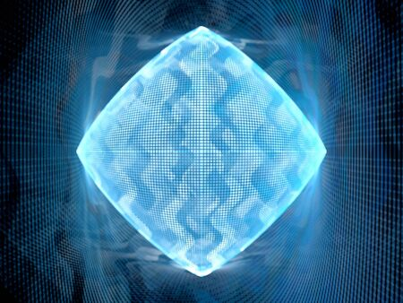 computer data: Blue glowing big data system, computer generated abstract background