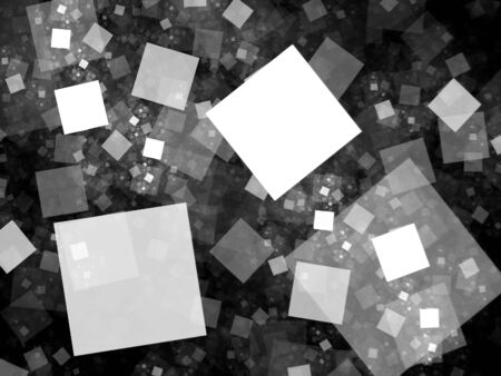 intensity: Flying tiles in space fractal, network theory, computer generated intensity map for screen or overlay, black and white