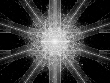 intensity: Symmertical new innovated space object, computer generated abstract intensity map for screen or overlay