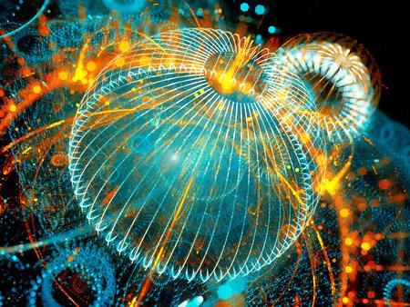 Bunte Zukunftstechnologie, Computer generiert abstrakte Hintergrund