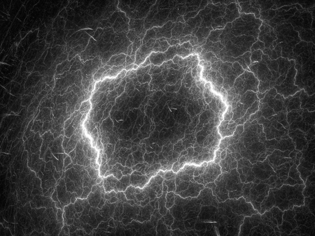 intensity: High voltage fractal intensity map, black and white, computer generated abstract intensity map for screen or overlay