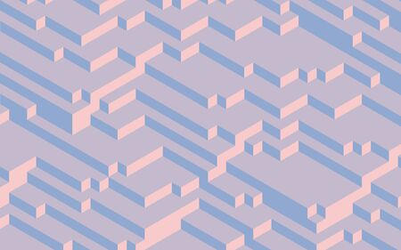 quartz: Fashion trend colors of 2016, Pantone 13-1520 Rose Quartz and 13-3919 Serenity, computer generated 3D abstract background Stock Photo