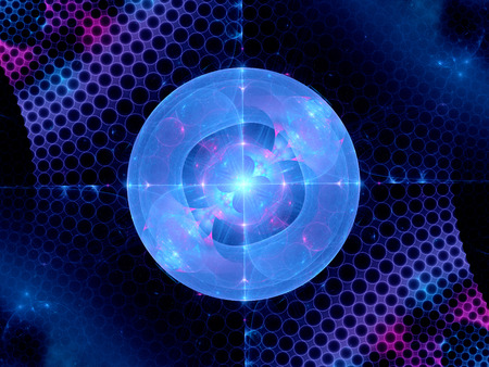 predicted: Higgs boson fractal, computer generated abstract background Stock Photo