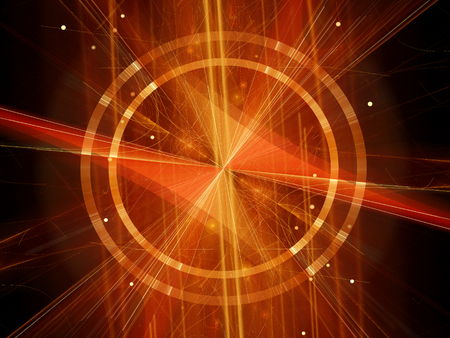 fission: Higgs boson in Large Hadron Collider, fission, computer generated abstract background, 3D rendering Stock Photo