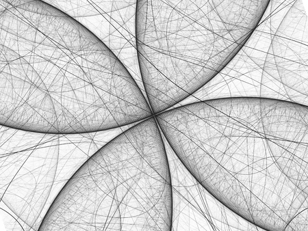 golden ratio: Black and white butterfly fractal, computer generated abstract background, 3D render