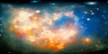 cinematic: Colorful nebula in space, computer generated abstract background, 3D render