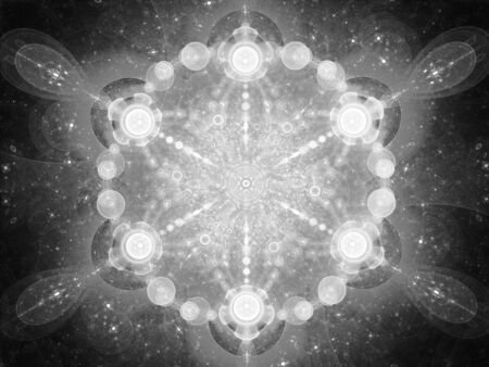 intensity: Abstract space mandala, computer generated abstract intensity map, 3D rendering