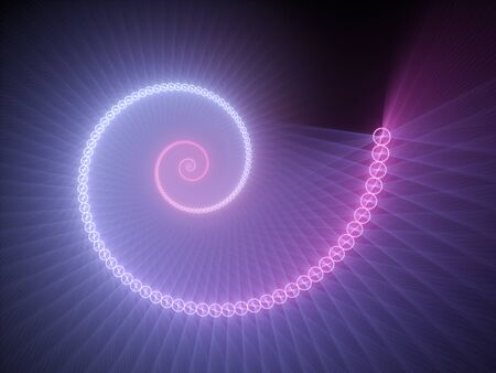 fractal pink: Colorful glowing spiral fractal, computer generated abstract background, 3D render
