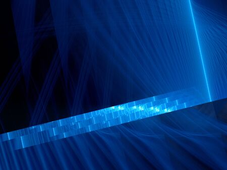 medical scanner: Blue glowing dna sequence, computer generated abstract background, 3D render Stock Photo