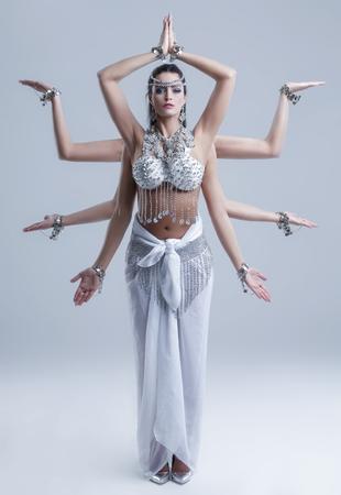 Shiva goddess with eight arm posing