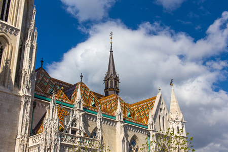 stephen: The colorful mosaic roof of Matthias Church, Budapest, Hungary
