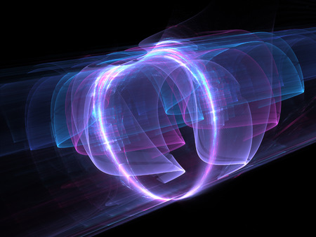 High power electromagnetic energy field, computer generated abstract background, 3D rendering Stock Photo