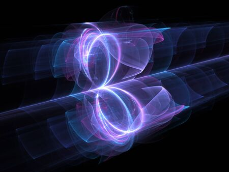 High power looped energy field, computer generated abstract background, 3D rendering Stock Photo