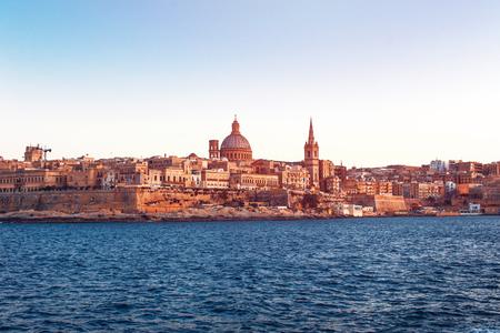 Valletta vintage background, Malta, EU