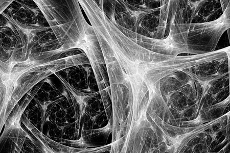 axon: Synapse system black and white intensity map, computer generated abstract background, 3D rendering