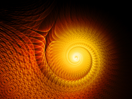 fiery: Fiery glowing multidimensional spiral, computer generated abstract background, 3D rendering Stock Photo
