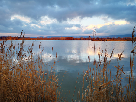 Tranquil lake at Naszaly, Hungary, EU