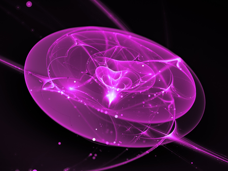 Purple glowing new technology in deep space, computer generated abstract background, 3D rendering Foto de archivo