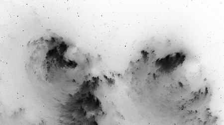 Dark matter, black and white, computer generated abstract intensity map, 3D rendering