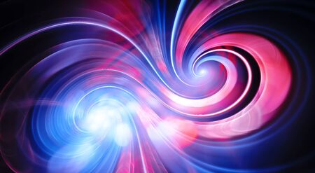 Infinity double spiral of love, computer generated abstract background, 3D rendering