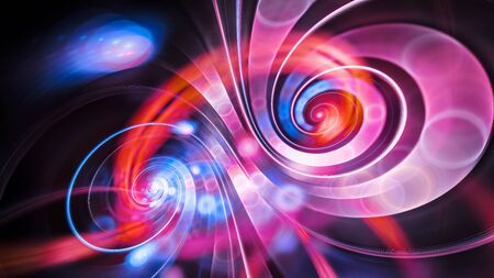 Infinity double spiral funny moments, computer generated abstract background, 3D rendering