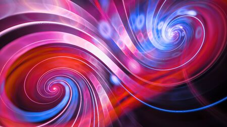 Double spiral swirl flow, computer generated abstract background, 3D rendering