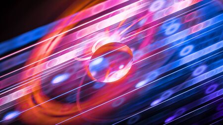 The glossy glowing unique element, computer generated abstract background, 3D rendering