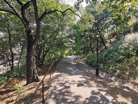 Park walkway at Buda Hill Castle, Budapest, Hungary Reklamní fotografie