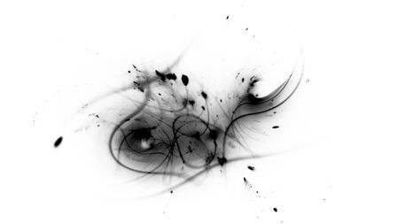 Trajectories of dark matter and energy, black and white abstract intensity map, 3D rendering