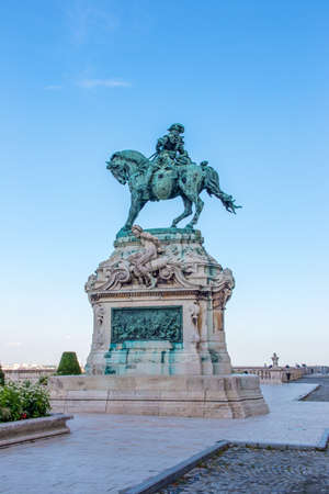 Statue of Prince Eugene of Savoy in the Buda Castle Complex Budapest Hungary
