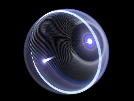 Laser eye operation concept, isolated on black, computer generated abstract background, 3D rendering