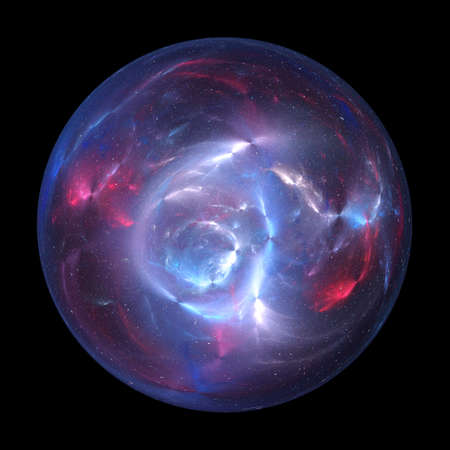 Colorful glowing plasma ball, computer generated abstract background, 3D rendering