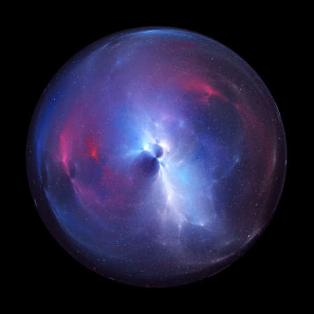 Bubble universe, computer generated abstract artwork, isolated on black 版權商用圖片