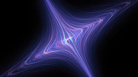 Blue glowing futuristic flux capacitor, computer generated abstract background, 3D rendering