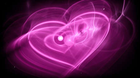 Abstract pink love concept, computer generated background, Valentine's day, 3d rendering