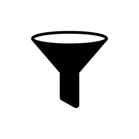 funnel - filter icon vector design template in white background and trendy style