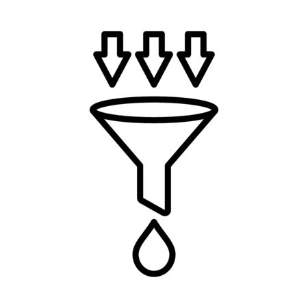 funnel - filter icon vector design template in white background and trendy style Ilustracja