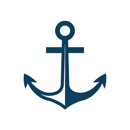anchor - nautical symbol icon vector design template