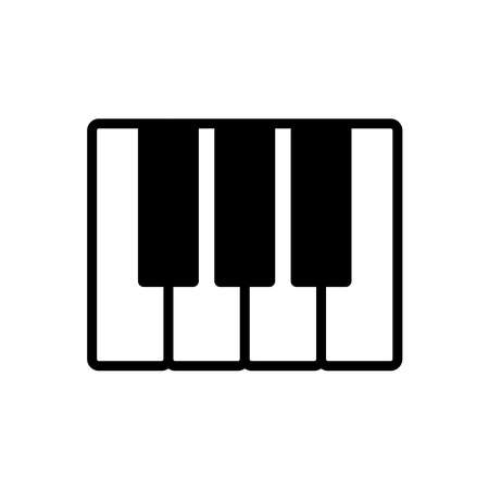 piano - music icon vector design template in white background and trendy style Stock fotó - 150599392