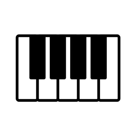 piano - music icon vector design template in white background and trendy style Stock fotó - 150599364