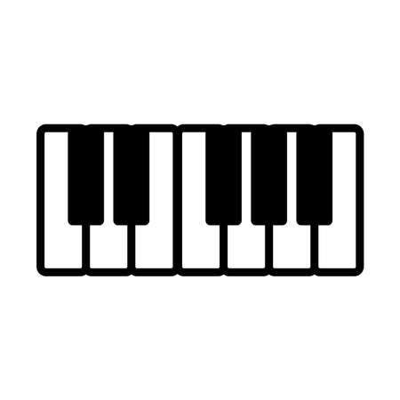 piano - music icon vector design template in white background and trendy style Stock fotó - 150599370