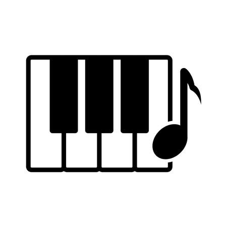 piano - music icon vector design template in white background and trendy style