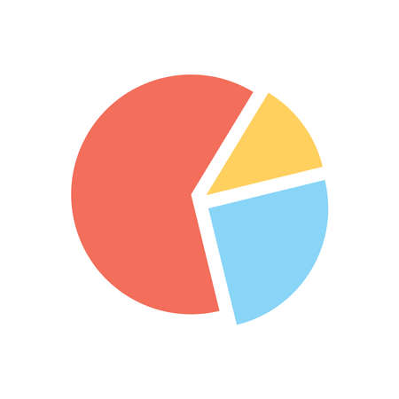 pie chart icon vector design template in white background and trendy style