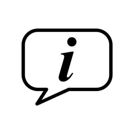 information symbol - help desk icon vector design template in white background Illusztráció