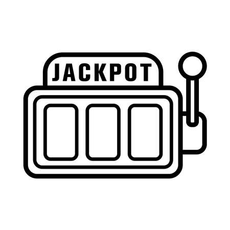 jackpot - gambling - sloth machine icon vector design template in white background