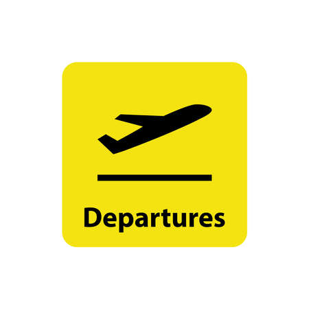 airport sign and symbol icon vector design template in white background Vecteurs