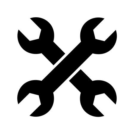 wrench - metal spanner icon vector design template in white background Illusztráció