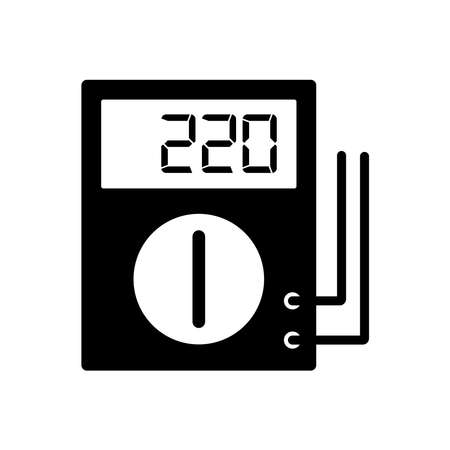 digital multimeter - electrical symbol icon vector design template in white background